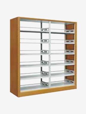 XPD-S-003木护板双柱双面书架